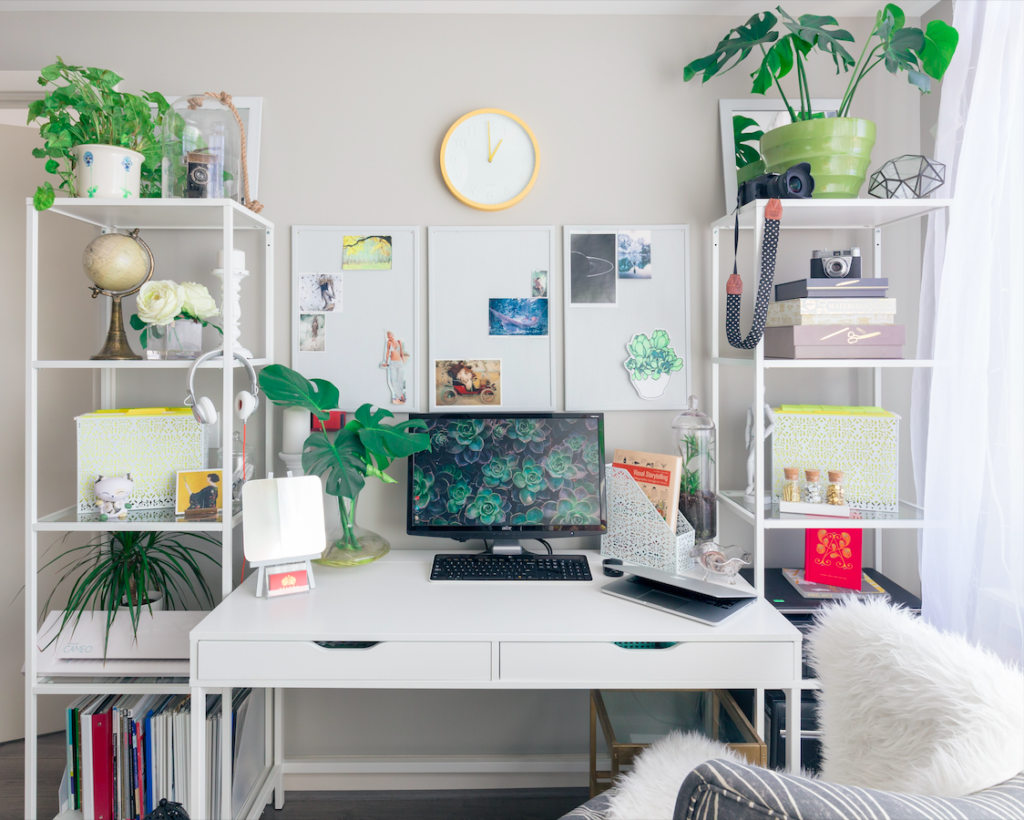 Work from home productivity increases when you work from a dedicated workstation